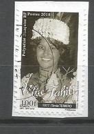 Timbre Du Carnet   Miss Tahiti  2018    (clasyverou22) - Polynésie Française