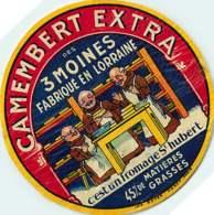 100420A - ETIQUETTE FROMAGE - CAMEMBERT EXTRA DES 3 MOINES Fabriqué En LORRAINE St Hubert - Käse