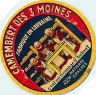 100420A - ETIQUETTE FROMAGE - CAMEMBERT DES 3 MOINES Fabriqué En LORRAINE St Hubert - Käse