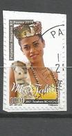 Timbre Du Carnet   Miss Tahiti  2018    (clasyverou22) - Oblitérés