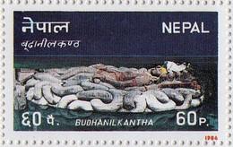 Lord VISHNU Budanilkantha POSTAGE Stamp 1986 Mint/MNH - Hinduism