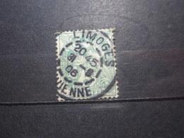 """VEND BEAU TIMBRE DE FRANCE N° 111 , OBLITERATION """" LIMOGES """" !!! (a) - 1900-29 Blanc"""