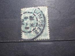 """VEND BEAU TIMBRE DE FRANCE N° 111 , OBLITERATION """" LIMOGES """" !!! (b) - 1900-29 Blanc"""