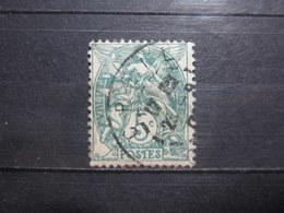 """VEND BEAU TIMBRE DE FRANCE N° 111 , OBLITERATION """" CREIL """" !!! - 1900-29 Blanc"""