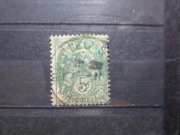 """VEND BEAU TIMBRE DE FRANCE N° 111 , OBLITERATION """" BLOIS-Q.DE LA SAUSSAIE """" !!! - 1900-29 Blanc"""