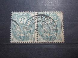 """VEND BEAUX TIMBRES DE FRANCE N° 111 EN PAIRE , OBLITERATION """" ROUEN-BOURSE """" !!! - 1900-29 Blanc"""