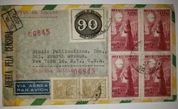 O) 1944 BRAZIL, CENSORSHIP, OIL - PETROLEUM - SC 514,ADAPTATION OF 1843 BULL'S EYE SC 611- POSTAGE STAMP, BARTHOLOMEU - Brazil