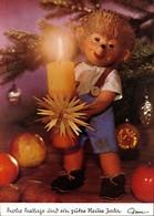 Ansichtskarte  Mecki (Diehl-Film): Frohe Festtage Neujahr Kerze 1970 - Mecki