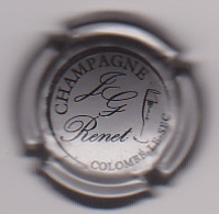 Capsule Champagne RENET Jean-Guy ( 2a ; Argent Et Noir ) {S16-20} - Champagne