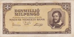 Hongrie - Billet De 1000000 Pengo 1 Million - Lajos Kossuth - 24 Mai 1946 - P128 - Hungary