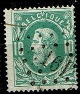 30  Obl  LP  161  Harmignies  + 10 - 1869-1883 Leopold II.