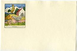 Buvard 21.2 X 13.3  Sans Publicité Image D'Epinal  Devinettes 14 Où Sont Le Renard Et Le Porc? - Löschblätter, Heftumschläge
