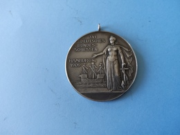 Allemagne Tragbare Medaille 1909 Schützen Silber Hambourg XVI - Other Collections