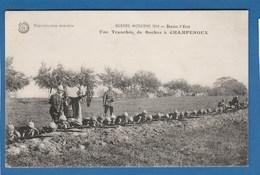 GUERRE MODERNE 1914 DANS L'EST UNE TRANCHEE DE BOCHES A CAMPENOUX - Oorlog 1914-18