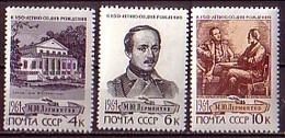 RUSSIA - UdSSR - 1964 - 150 Ans De La Naissance De Lermontov - 3v** - 1923-1991 URSS