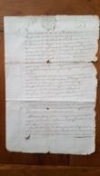 GENERALITE PARIS 1742 2 SOLS CITANT MEAUX GERMIGNY - Gebührenstempel, Impoststempel