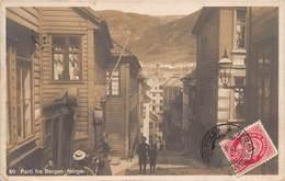 Carte-Photo Parti Fra Bergen - Norge - Carte Pour Paris 1916 - Norvège