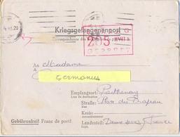 GUERRE 39-45 COR. PRISONNIER De GUERRE Au STALAG XVII B /205 KREMS-GNEIXENDORF, Rédigé Le 28-3-1943 - Marcophilie (Lettres)