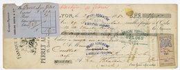 CHEQUE RHONE LYON LIQUEURS PERRET ET CELAS 1880 TIMBRE FISCAL - Cheques & Traverler's Cheques