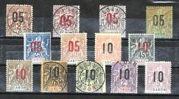 Gabon Très Belle Série 66 à 78 */ob - Gabon (1886-1936)