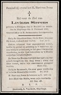Sleidinge, Sleydinge,Evergem, 1922, Livinus Sierens, - Images Religieuses