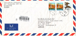 Taiwan Registered Air Mail Cover Sent To Denmark Kaohsiung 18-12-1992 - 1945-... Republic Of China