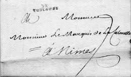 """DE TOULOUSE"",Lenain N°39,L.A.C. Du 30 Mars 1776. - 1701-1800: Precursors XVIII"
