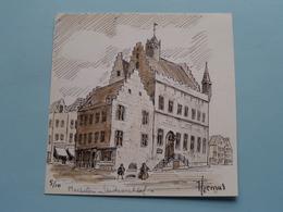 HERMUS Tekening MECHELEN Stadsarchief ( 5/10 ) Anno 19?? ( Zie/voir Photo ) Formaat 10,5 X 10,5 Cm.! - Prints & Engravings