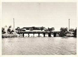 Rare Photo 18 X 13 Cm Transport D'un Canon Atomique De 280 M/m Dans Le Maryland USA Années 50 Guerre Froide - 1939-45