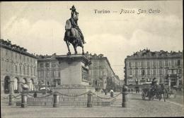 Cp Torino Turin Piemonte, Piazza San Carlo - Italia