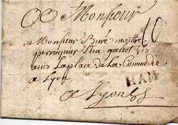 """Linéaire """"HAM"""",Lenain N°3,L.A.C. Du 10/8/1757 - 1701-1800: Precursors XVIII"""