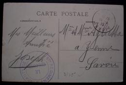 1915 Cachet 97eme Régiment D'infanterie Le Colonel Sur Carte De Belgique Place Saint Nicolas à Dinant Pour Yenne Savoie - Guerre De 1914-18