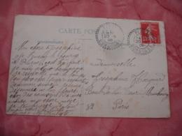 Plazac Dordogne Cachet Perle Facteur Boitier Obliteration Sur Lettre - Marcofilie (Brieven)