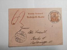 Deutsches Reich  Rohrpost-Karte 1900 - Allemagne