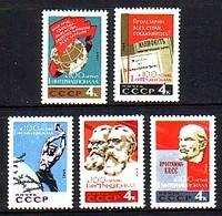 RUSSIA - UdSSR - 1964 - 100ans De La Premier Intrnational - 5v** - 1923-1991 URSS