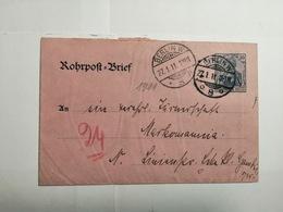 Deutsches Reich  Rohrpost-Brief 1911 - Allemagne