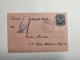Deutsches Reich  Rohrpost-Brief 1902 - Allemagne