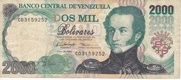 BILLETE DE VENEZUELA DE 2000 BOLIVARES DEL AÑO 1997  (BANKNOTE) - Venezuela