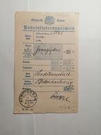 Posteinlieferungsschein KÖNIGREICH Bayern - Bavière
