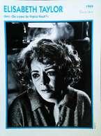 ELIZABETH TAYLOR . Portrait Star Cinéma . Photo-Fiche Filmographie . Collection Edito Service - Foto