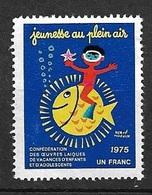 France Vignette  FOL  Jeunesse Au Plein Air 1975 Neuf * * TB  Soldé Le Moins Cher Du Site  ! ! ! - Tourisme (Vignettes)