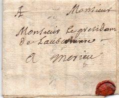 L.A.C. De PARIS Pour MEYRIEU Le 6 Avril 1734. - 1701-1800: Precursors XVIII