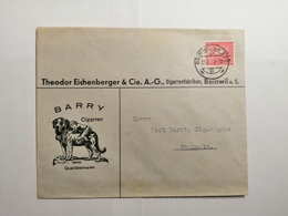 Briefumschlag 1935 Schweiz Barry Cigarren - Suisse