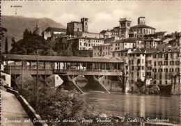 (C).Bassano Del Grappa(VI).Ponte Vecchio E Castello.Viaggiata (c20) - Vicenza