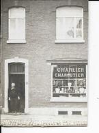 Commerce - A Identifier - Photo Sur Carton - Charcutier Charlier - Format: 14/10cm. - Magasins