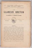 Le GLANEUR BRETON - Ed Cailliere Place Palais RENNES 35 Bretagne Bibliographie Iconographie Bretonne -N°7&8 -1891 - Livres, BD, Revues