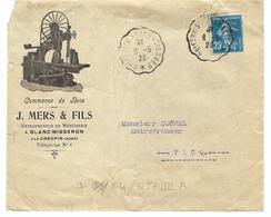 FRANCE 1923:  LSC Illustrée Avec Oblitération Convoyeur De Ligne ''Quiévrain à Valenciennes'',  B à TB - Francia