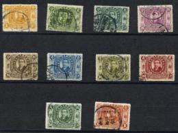 1912 1c - $1 1st Year Republic Sun Yat-sen Stamps. Used. MICHEL #124-133. (c-678) - 1912-1949 Republic