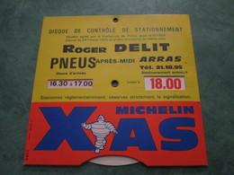 Roger DELIT PNEUS (Tél. 21.18.95) - Disque De Contrôle De Stationnement - Arras