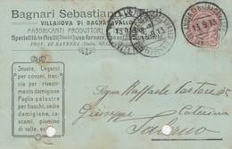 Villanova Di Bagnocavallo. 1913. Annulo Guller VILLANOVA DI BAGNOCAVALLO (RAVENNA)  Su Cartolina Postale PUBBLICITARIA - Storia Postale